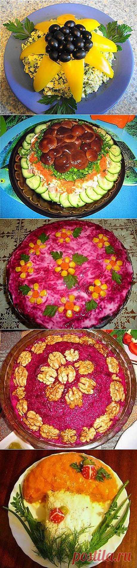 14 идей для украшения салатов