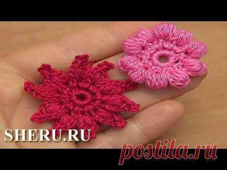Простой цветок из пышных столбиков, видео 61