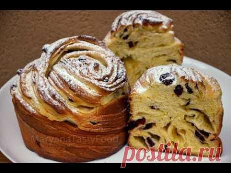 """✧ ПОТРЯСАЮЩИЙ Кружевной Пасхальный Кулич """"Краффин"""" ✧ Easter Cake Cruffin recipe ✧ Марьяна"""