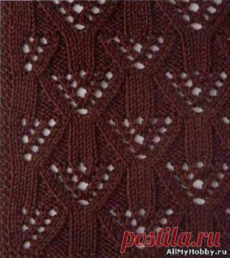 Схема для вязание спицами №2. Ажурная вязка. - Вязание спицами. Узоры