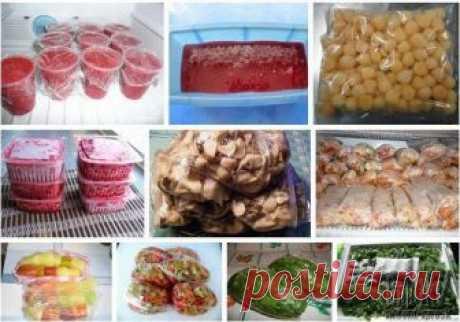 СОХРАНЯЕМ ОВОЩИ И ФРУКТЫ МЕТОДОМ ЗАМОРОЗКИ Предлагаем следующие рецепты заморозки овощей и фруктов:  1. КЛУБНИКА С САХАРОМ  Продукты: 1 кг клубники, 700 г сахара.  Клубнику перебираем, удаляем чашелистики, промываем, обсушиваем на полотенце и взбиваем с сахарным песком с помощью блендера или миксера. Массу расфасовываем по пластиковым стаканчикам и замораживаем. Перед использованием просто разрезаем пластик и достаем ароматную вкусную массу.   2. ВИШНЕВОЕ ПЮРЕ  Продукты: 1...