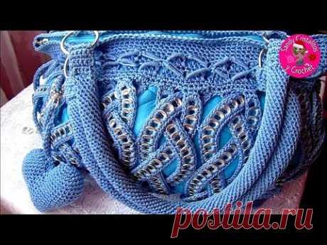 Cómo tejer bolso Medusa a Crochet c/anillas Parte 1