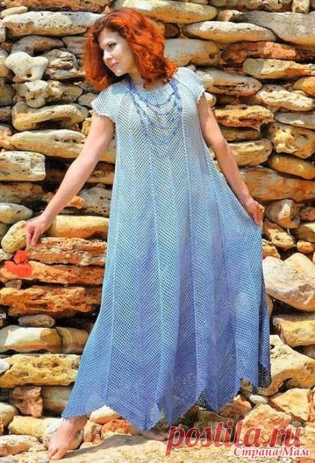 Макси-платье Морские волны - Все в ажуре... (вязание крючком) - Страна Мам