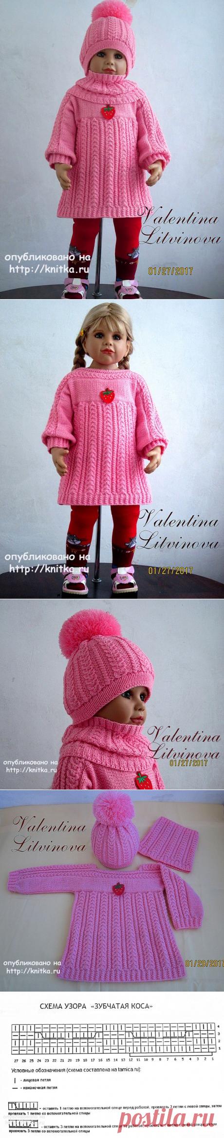 Комплект для девочки Ягодка. Авторская работа Валентины Литвиновой, Вязание для детей
