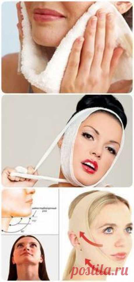 Знаменитая французская повязка красоты - подтягивает овал лица без операций