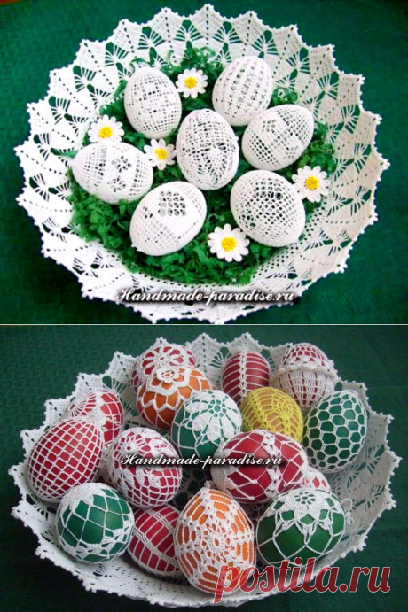 Как обвязать крючком пасхальные яйца. Идеи и схемы вязания