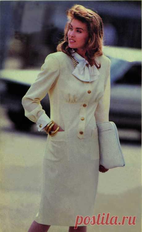 Юбилейный проект Burda. Платье со съёмным бантом из Burda 4/1987 — BurdaStyle.ru