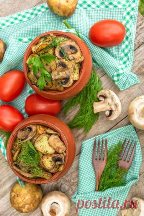 Овощное рагу с грибами в горшочках рецепт с фото пошагово