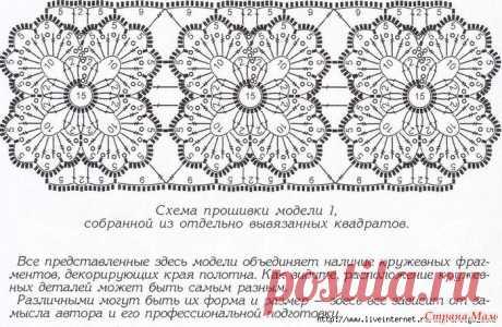 Филейная блуза с отделкой мотивами и полосами: Фото альбомы - Страна Мам