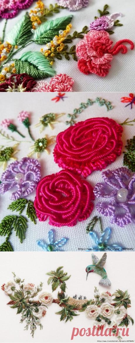 Очаровательный вариант объемной вышивки - бразильская вышивка. Идеи, советы и МК
