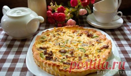 Пирог с курицей и кабачком - 30 минут и готово   Простая Кухня - Рецепты   Яндекс Дзен