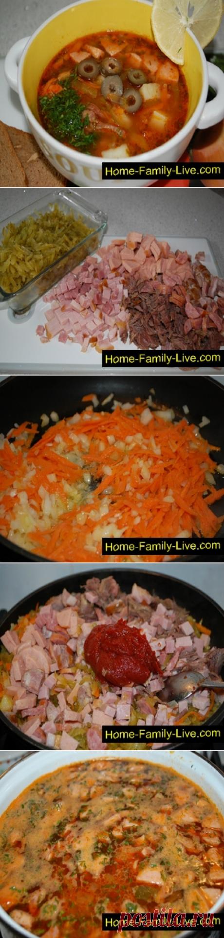 Солянка сборная мясная/Сайт с пошаговыми рецептами с фото для тех кто любит готовить