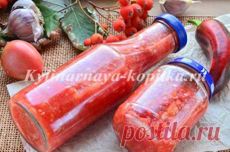 Аджика из помидор и чеснока: рецепт классический без варки
