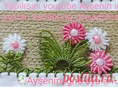 297.model (flower)Muhteşem bir tasarım igne oyası modeli anlatımlı video do not forget to like