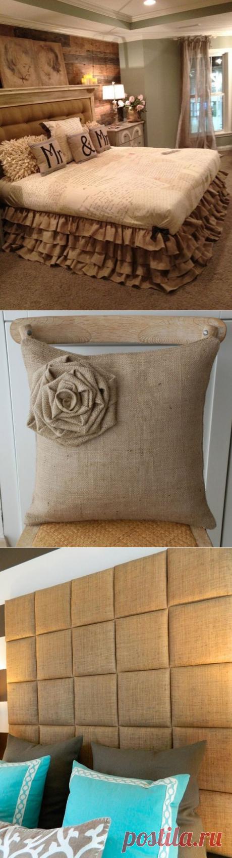 Идеи из мешковины для стильного декора