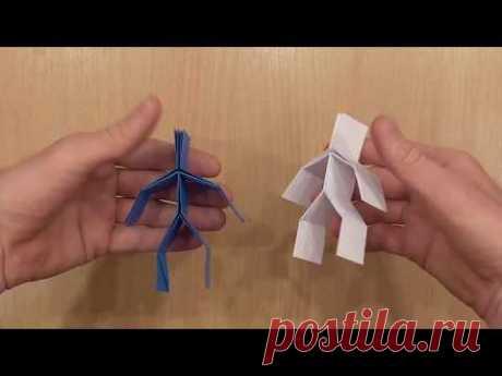 Человечек оригами