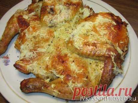 Цыпленок табака в духовке - пошаговый рецепт с фото   И вкусно и просто