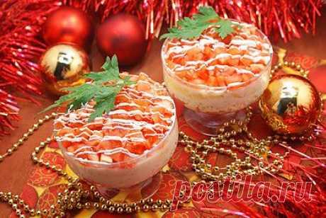 Салат с красной рыбой - Новогодние рецепты 2014 салаты на новый год