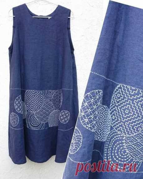 Японская вышивка сашико. Подборка фото Шитье | простые выкройки | простые вещи #простыевещи #шитье #вышивка #идея #сашико #длявдохновения