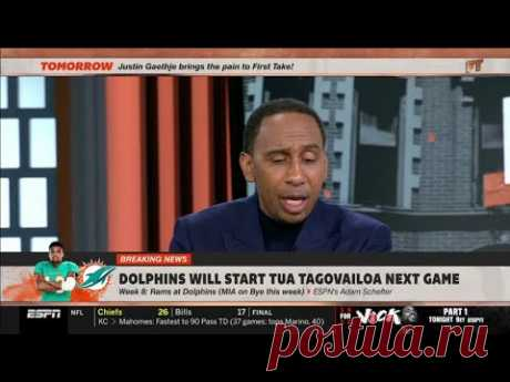[BREAKING NEWS] Stephen A.: Dolphins to name Tua Tagovailoa starting QB