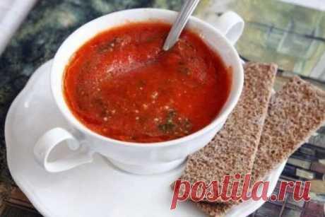 Томатный супчик из печеных помидоров и перцев, рецепт с фото   Вкусные кулинарные рецепты