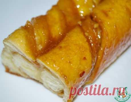 Косички с орехами в карамельно-медовом соусе