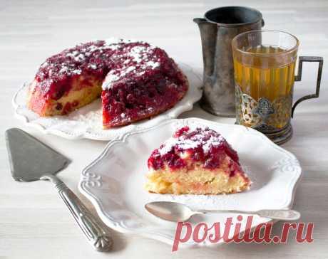Пирог-перевертыш с ягодами рецепт с фото пошагово