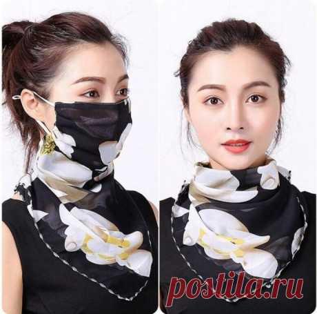 Как сшить красивую маску - шейный платок для походов в магазин - Сам себе мастер - медиаплатформа МирТесен