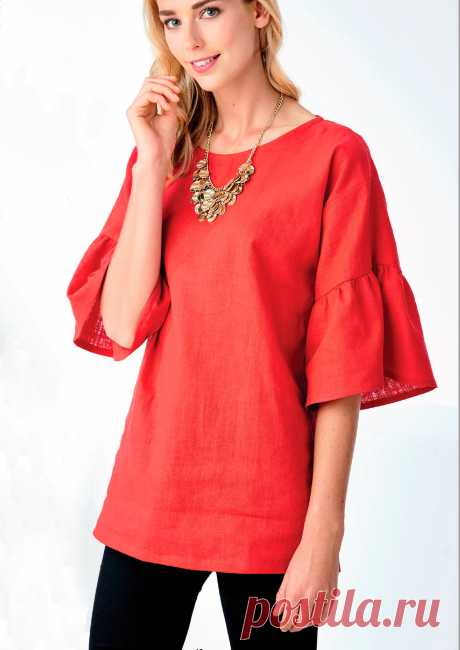 """Арабэлла"" - блузка своими руками из 1 метра ткани"