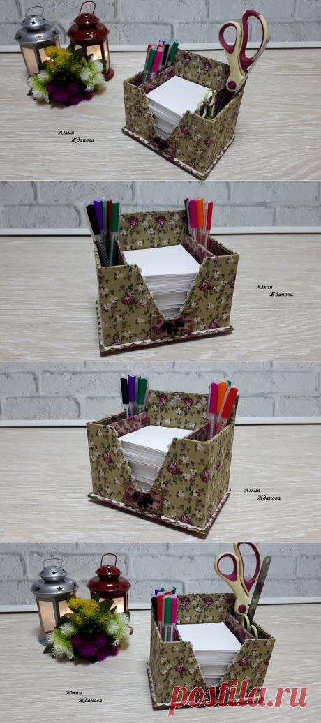 Красивая подставка под письменные принадлежности, украсит собой - любой стол! Не пожалейте времени на ее изготовление! | Юлия Жданова | Яндекс Дзен