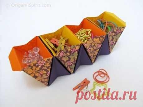 Como hacer una Caja Acordeon.Origami - enrHedando