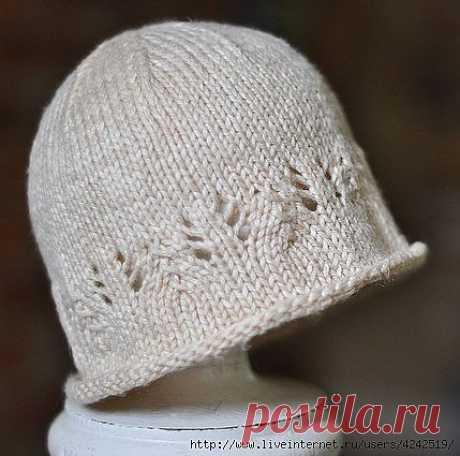шляпа для новорожденного с легким кружевом.