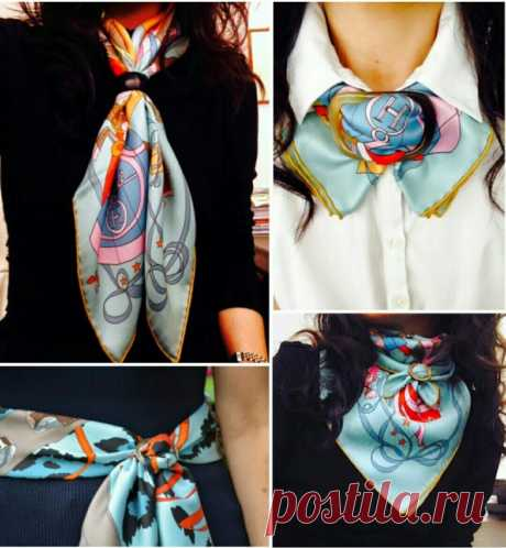 Scarfs on a buckle \/ How to carry? \/ Second Street