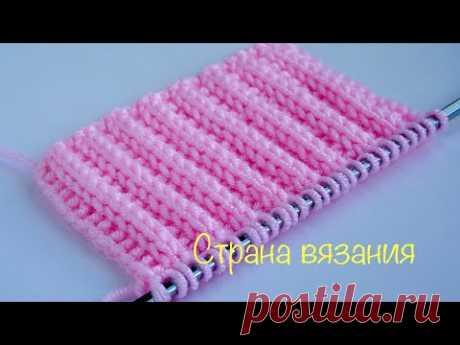 Узоры спицами. Резинка 2х1, которая не растягивается. 2x1 elastic band that does not stretch.