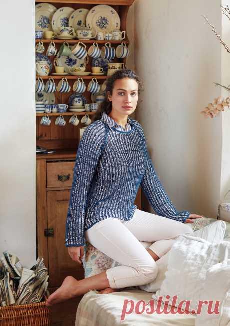 Двухцветный пуловер Stafford - Вяжи.ру