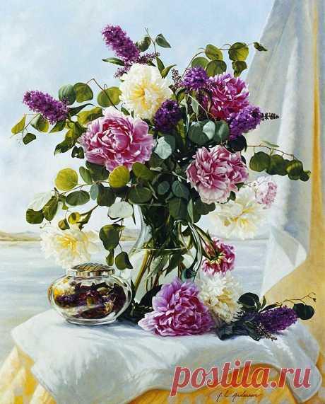 Вхожу я в дом, наполненный цветами... Художница Робин Люсиль Андерсон (Robin Lucile Anderson).
