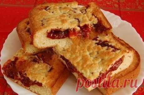 Как приготовить пирог с вареньем из песочного теста. - рецепт, ингредиенты и фотографии