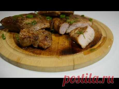 Свинина в сувиде, очень нежное и сочное мясо.