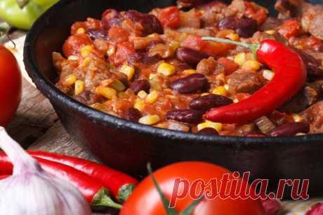 Тушеная фасоль с чили по-мексикански — Фактор Вкуса