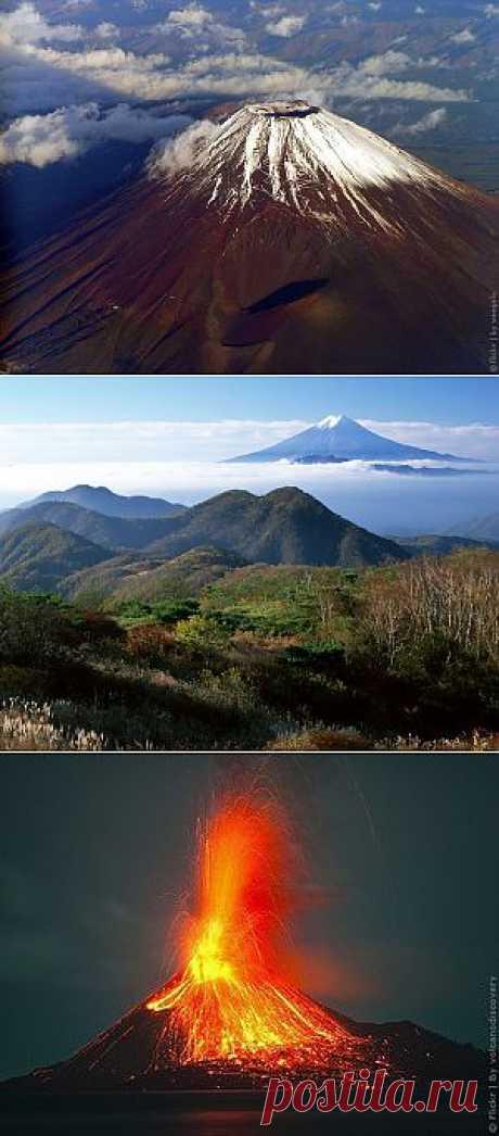 Вулкан Фудзияма, фото и координаты вулкана в Японии