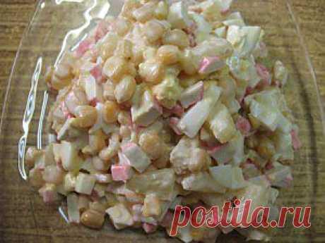 Салат из крабовых палочек с ананасом | 4vkusa.ru