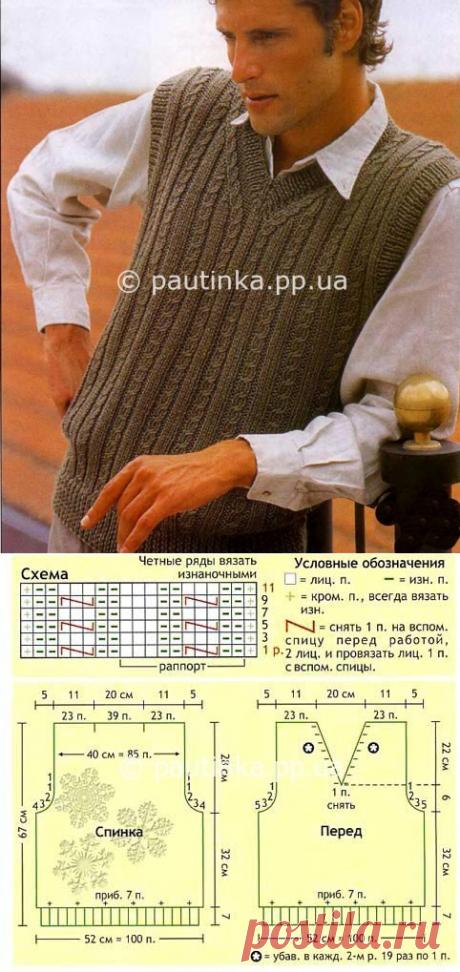 Классический вариант жакета. Схема | Вязание спицами, крючком, схемы вязания