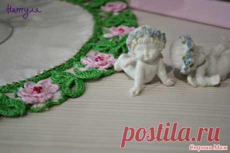 Цветочная кайма салфетки крючком - Вязание - Страна Мам