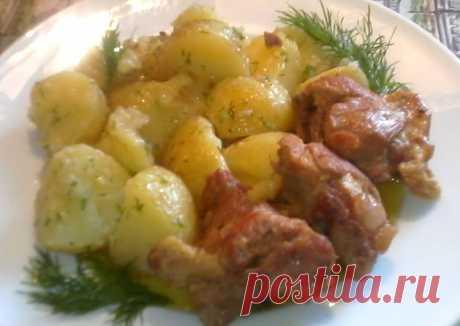 (5) Молодой картофель с тушёной свининой - пошаговый рецепт с фото. Автор рецепта Светлана . - Cookpad