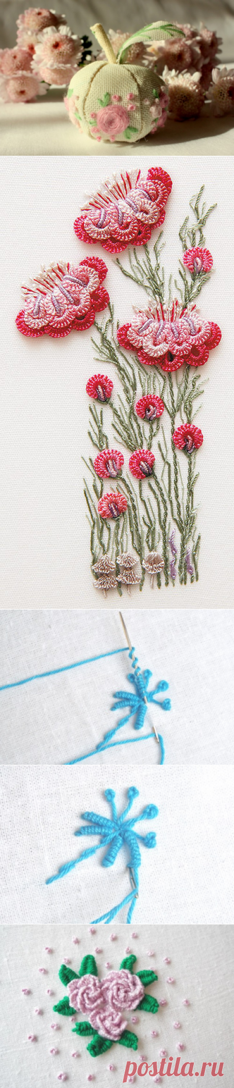 Master class Brazilian embroidery of volume flowers