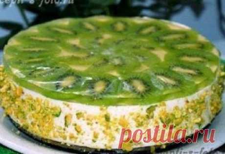 Лёгкий творожный торт с киви, который не нужно выпекать в духовке! — Мир интересного