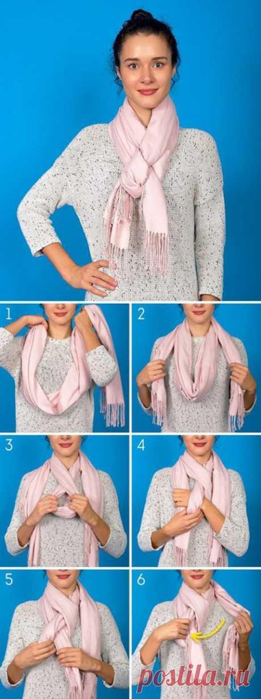 6 красивых способов дополнить образ с помощью шарфика. На заметку     Неотъемлемый аксессуар стильного образа давно уже перестал иметь чисто практическое значение. Сейчас завязать шарф на шее — целое искусство, поэтому сегодня мы покажем вам 6 красивых способов доп…