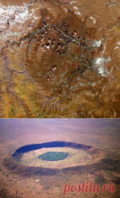 Самые большие кратеры, оставленные метеоритами — Наука и жизнь