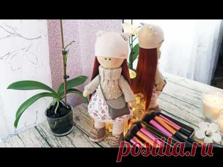 DIY Интерьерная кукла из ткани своими руками | Рыжеволоска