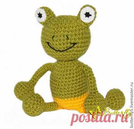 Лягушонок Ква крючком - Ярмарка Мастеров - ручная работа, handmade